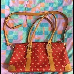 DOONEY & BOURKE Monogram Leather Satchel Bag